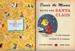 Al Wiseman Dennis The Menace Christmas Golden Book
